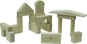 Blocks, My First Blocks, 21 Piece - Maple Landmark - Fortune And Glory - Made in USA Gifts