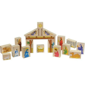 Nativity Block Set - Fortune And Glory - Made in USA Gifts