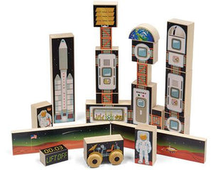 Space Mission 1 Block Set - Wooden Toys