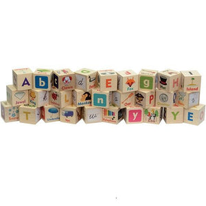 Letter Picture Blocks - Wooden Toys