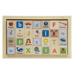 Letter Picture Blocks with Tray - Fortune And Glory - Made in USA Gifts