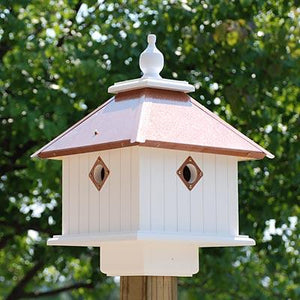 Carriage Bird House Copper Roof - Birdhouses
