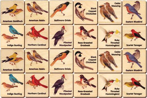 Backyard Birds Memory Tiles Game - Maple Landmark - Fortune And Glory - Made in USA Gifts