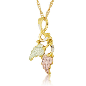 Double Leaf Pendant & Necklace - Black Hills Gold - Jewelry