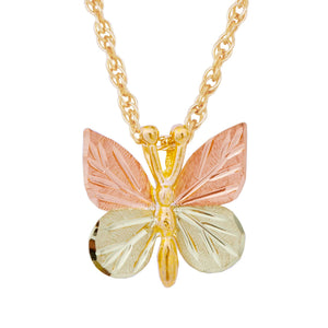 Little Butterfly Pendant & Necklace - Black Hills Gold - Fortune And Glory - Made in USA Gifts