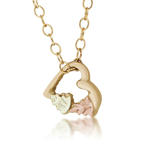 Little Heart Pendant & Necklace - Black Hills Gold