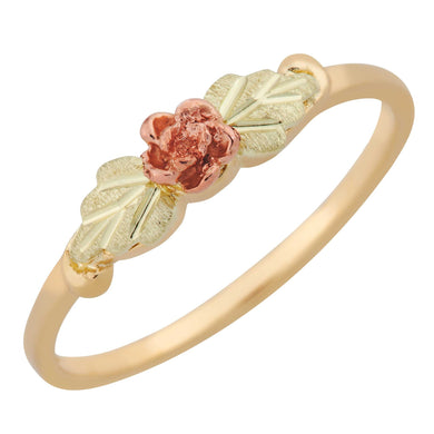 Black Hills Gold Little Rose Ring - Jewelry