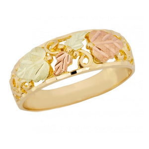 Mens Black Hills Gold Intricate Ring