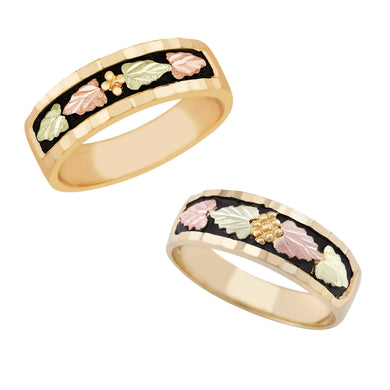 Black Hills Gold His & Hers Traditional Wedding Ring Set I