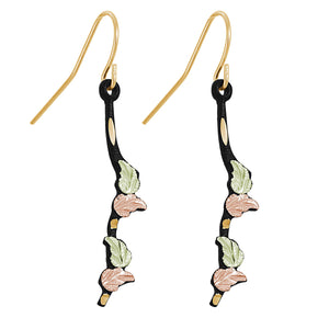 Powder Coat Colorful Black Hills Gold Earrings - Jewelry