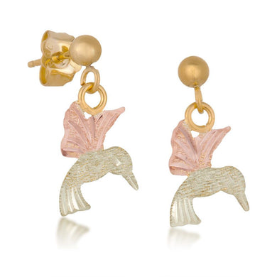 Black Hills Gold Hummingbird Earrings - Jewelryx