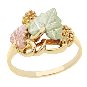 Black Hills Gold Intertwined Leaves Ring
