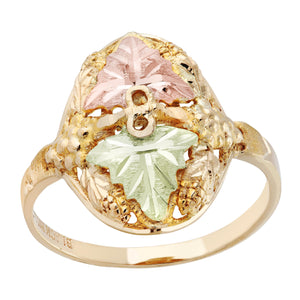 Black Hills Gold Leaves upon Grapes Ring - Jewelry