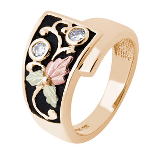 Black Hills Gold Diamond Foliage Ring - Fortune And Glory - Made in USA Gifts