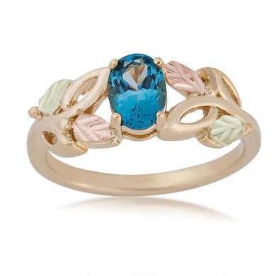 Black Hills Gold Blue Topaz Ring by Landstroms at Fortune And Glory - Made in USA Gifts