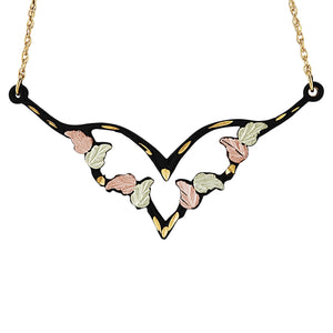 Powder Coat Colorful Black Hills Gold Pendant & Necklace - Jewelry