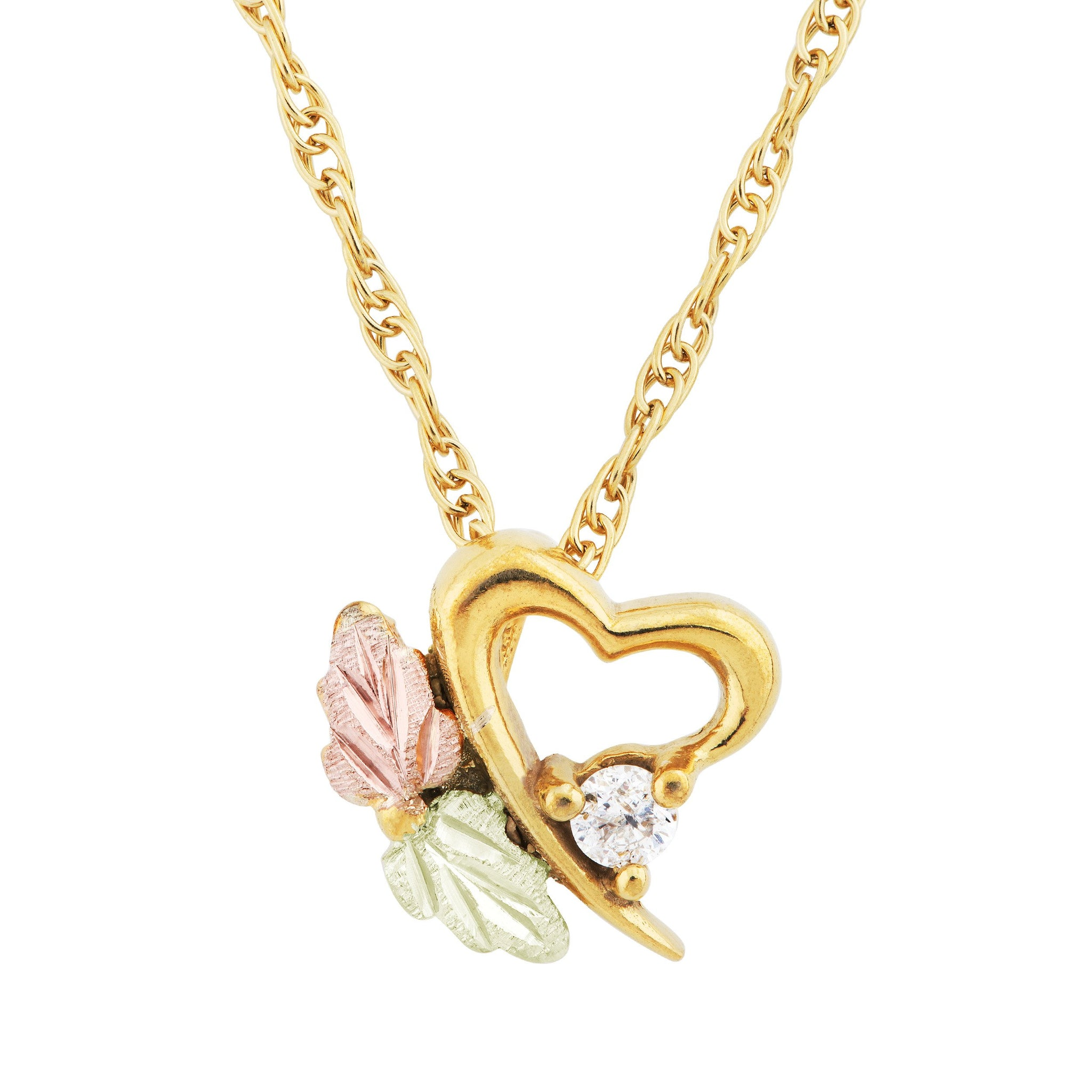 heart and gold box en always free for pendant baptism intl gift stroili ladybug