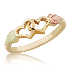 Black Hills Gold Twin Hearts Ring