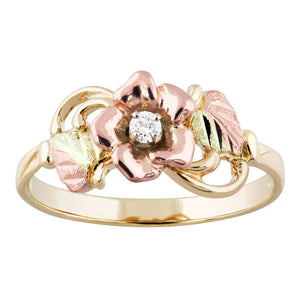 Diamond and Rose Ring II - Black Hills Gold - Jewelry
