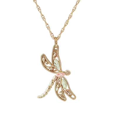 Black Hills Gold Dragonfly Pendant & Necklace - Jewelry