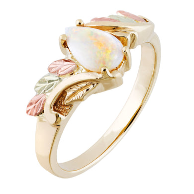 Sparkling Opal Black Hills Gold Ring II - Fortune And Glory - Made in USA Gifts