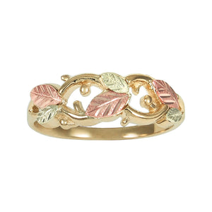 Fancy Leaves Black Hills Gold Ring - Jewelry