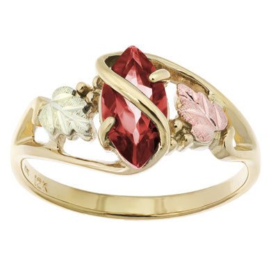 Black Hills Gold Garnet Ring - Fortune And Glory - Made in USA Gifts