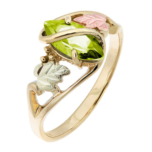 Black Hills Gold Peridot Ring - Fortune And Glory - Made in USA Gifts