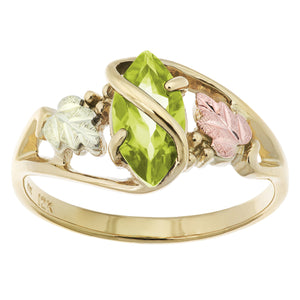 Black Hills Gold Peridot Ring - Jewelry