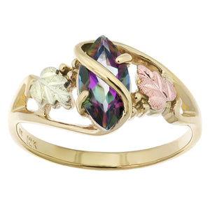 Black Hills Gold Mystic Fire Topaz Ring I - Jewelry