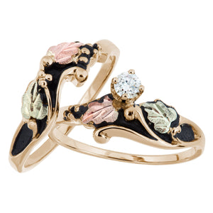 Antiqued Diamond Black Hills Gold Ring - Jewelry