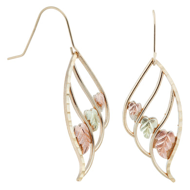 Leaves in Leaves Black Hills Gold Earrings - Jewelry