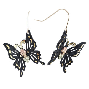 Black Hills Gold Powder Butterfly Earrings - Jewelry