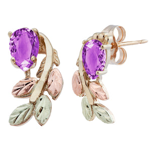 Black Hills Gold Pear Cut Amethyst Earrings - Jewelry