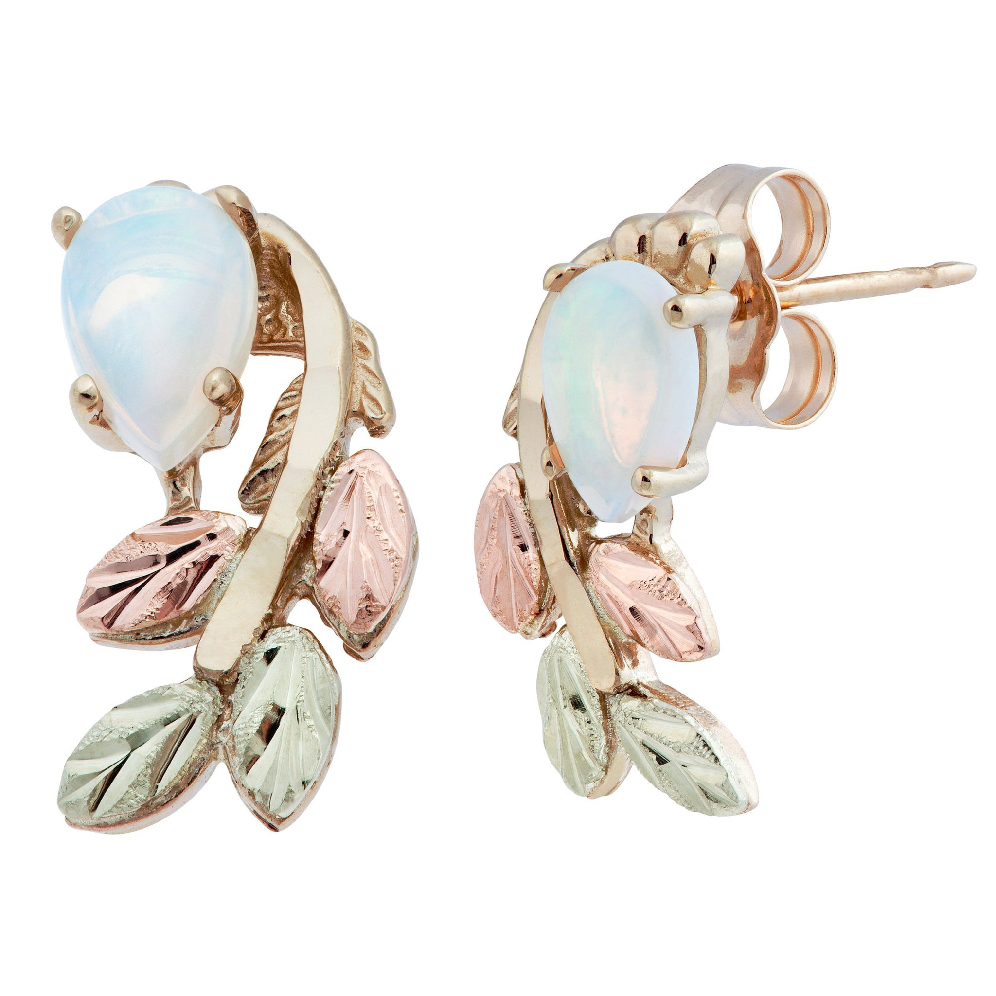 bodycandy collections faux opal left nose blue genuine screw earrings rilrgwvbwzidzezzpaej pronged gauge rings