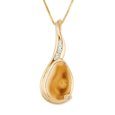 Madison Elk Ivory Gold Pendant - Jewelry