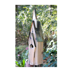 Graceland - Weathered White Birdhouse - Birdhouses