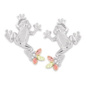 Black Hills Gold Sterling Silver Frog Earrings