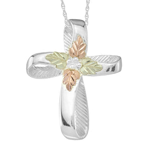 Sterling Silver Stylish Cross Pendant & Necklace