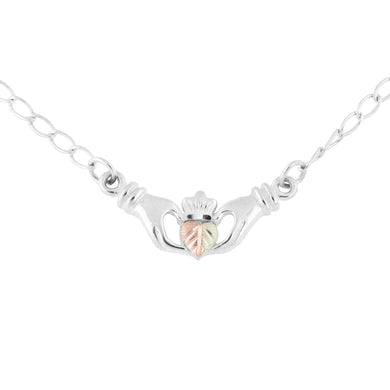 Sterling Silver Claddagh Pendant & Necklace