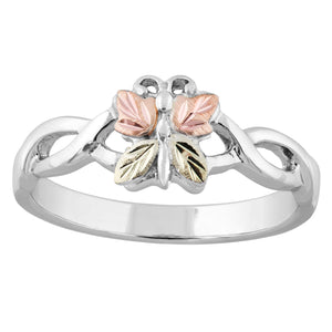 Sterling Silver Black Hills Gold Butterfly Ring - Fortune And Glory - Made in USA Gifts