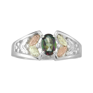 Sterling Silver Black Hills Gold Mystic Fire Topaz Ring IV - Jewelry
