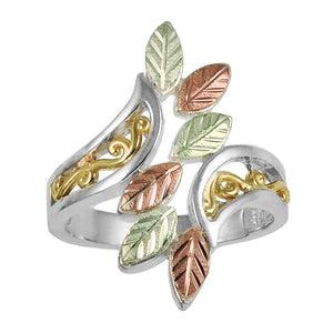 Six Leaf Fancy Sterling Ring - Black Hills Gold - Jewelry
