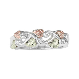 Sterling Silver Black Hills Gold Woven Vines Ring - Jewelry