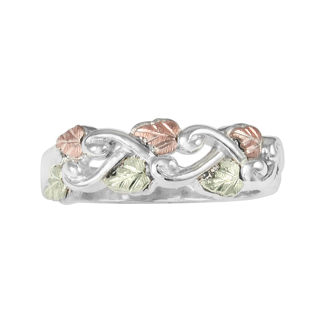 Sterling Silver Black Hills Gold Woven Vines Ring