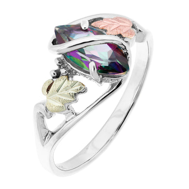 Sterling Silver Black Hills Gold Mystic Fire Topaz Ring II - Jewelry