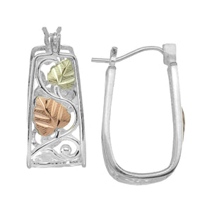 Sterling Silver Half Hoop Earrings III - Fortune And Glory - Made in USA Gifts