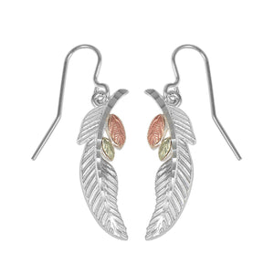 Sterling Silver Feather Earrings - Fortune And Glory - Made in USA Gifts