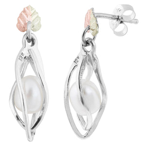 Sterling Silver Pearl Earrings - Fortune And Glory - Made in USA Gifts