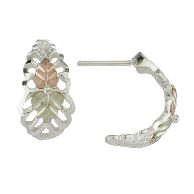 Sterling Silver Half Hoop Earrings II